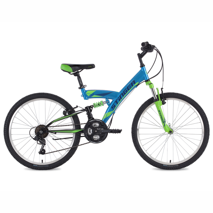 "Велосипед 24"" Stinger Banzai, 2018, цвет синий, размер 16,5"""