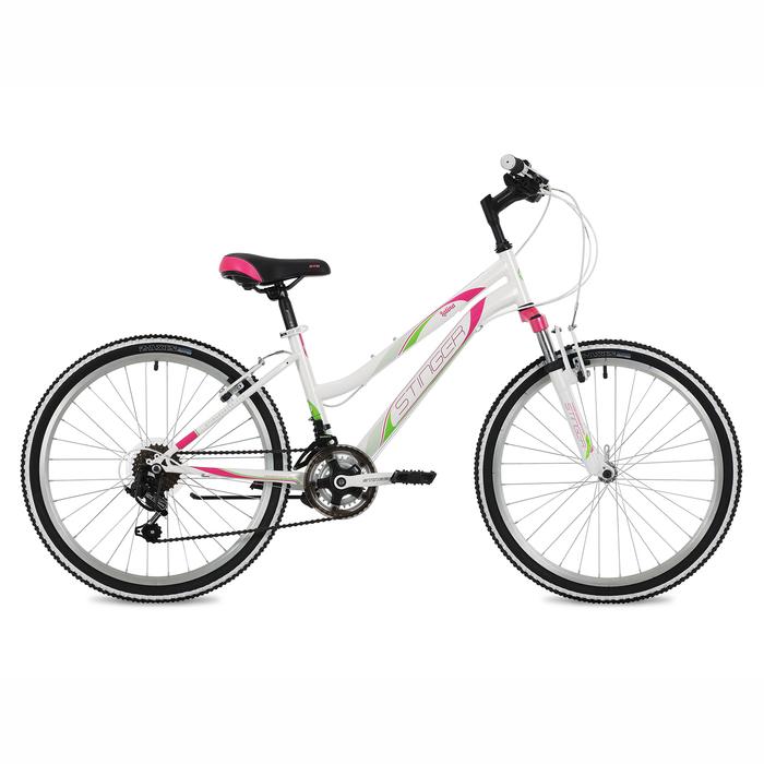 """Велосипед 24"""" Stinger Latina, 2018, цвет белый, размер 14"""""""