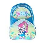 Рюкзак школьный с эргономической спинкой Luris Степашка 37x26x13 см для девочки, «Кошка»