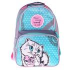 Рюкзак школьный с эргономической спинкой Luris Тимошка 37x26x13 см для девочки, «Кошка»