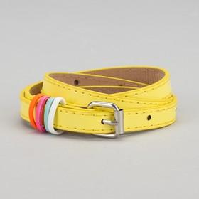 Ремень детский «Донна», лаковый, пряжка металл, ширина 1,5 см, цвет жёлтый
