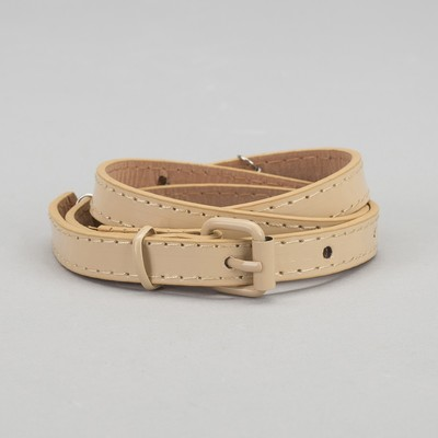 Strap baby Ellie, lacquer, buckle and yoke in the color of the belt, width 1.5 cm, color beige