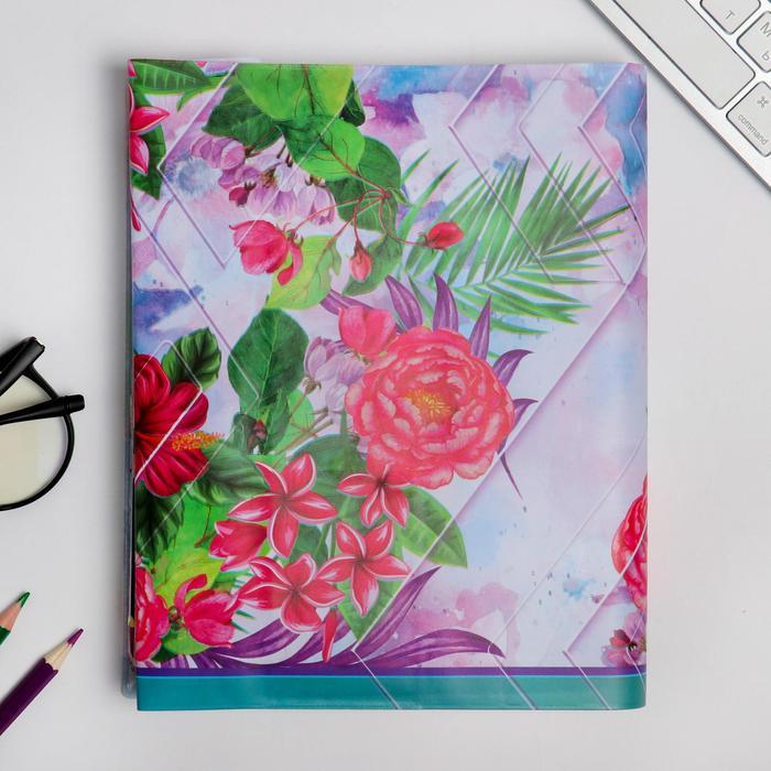 """Обложка для учебника """"Биология"""" (цветочная), 43,5 х 23,2 см"""