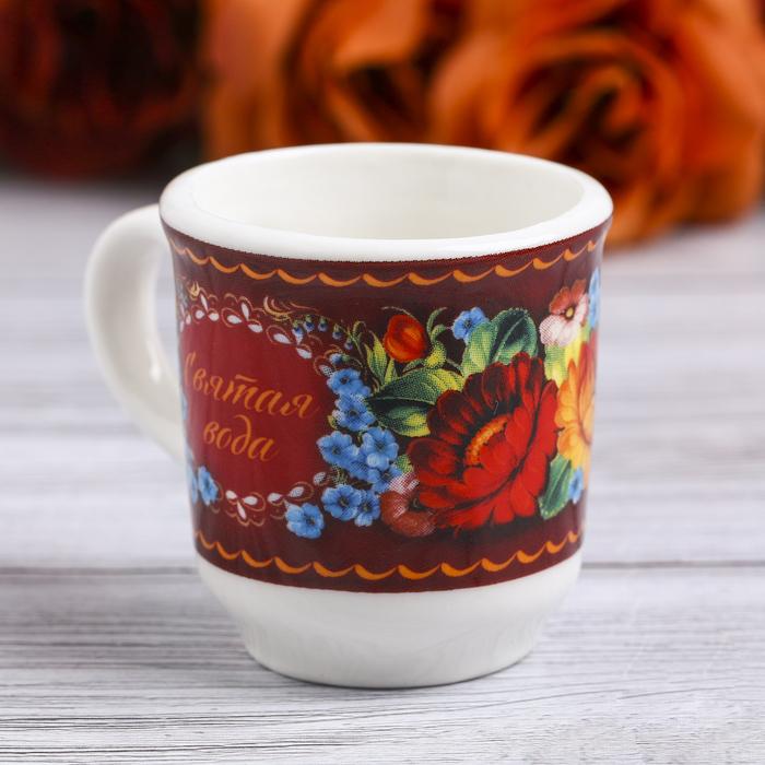 Пасхальная Кружечка для святой воды «Цветы», 5,5 х 4 х 3 см