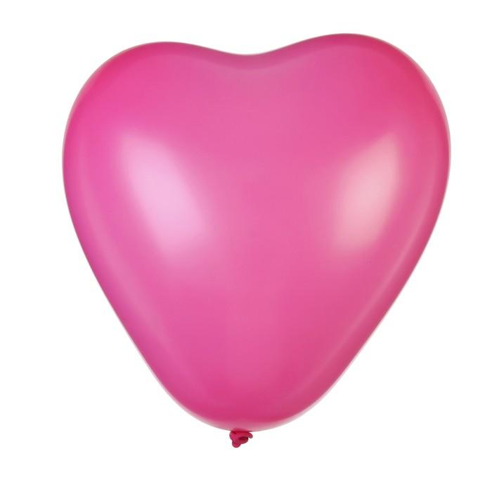"""Шар латексный 12"""", сердце """"Макарун"""", набор 15 шт, цвет розовый - фото 183772089"""