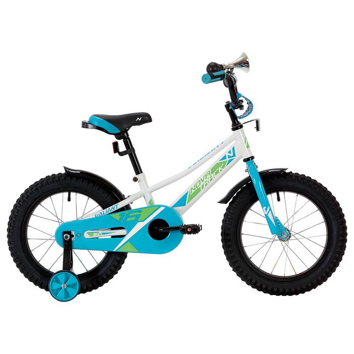 "Велосипед 16"" Novatrack Valiant, 2019, цвет белый"