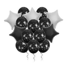 "A bouquet of balloons ""Night"" foil , latex, ribbon, set of 15 PCs"