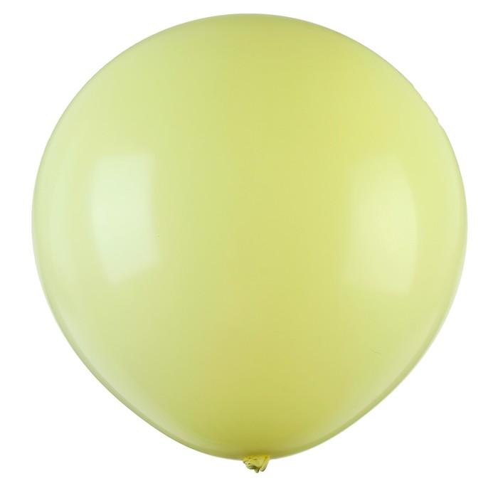 """Шар латексный 32"""" «Макарун», 1 шт., цвет жёлтый - фото 308469820"""