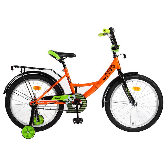"""Велосипед 20"""" Novatrack Vector, 2019, цвет оранжевый"""