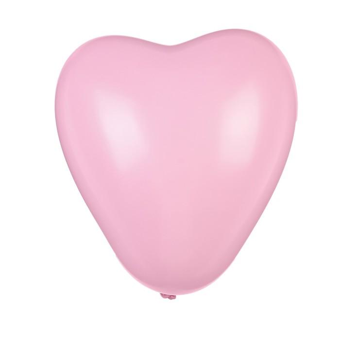 "Шар латексный 12"" «Макарун», сердце, набор 15 шт., цвет пыльная роза - фото 308475034"