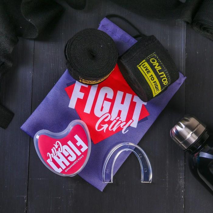 Набор для бокса «Борьба»: капа, бинты для бокса 2 шт. × 4 м