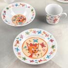 """Набор посуды детский """"Три кота. Бабочки"""""""