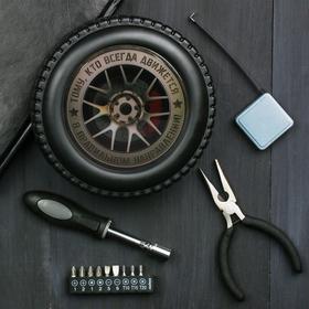 """Набор инструментов в колесе """"Движется в правильном направлении"""", 24 предмета"""