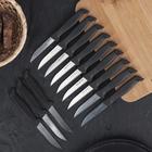 Набор кухонных ножей «Стомп», 12 предметов, цвет чёрный