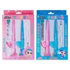 Канцелярский набор: ручка гелевая, карандаш механический 0.7 мм, стержень гелевый,грифели