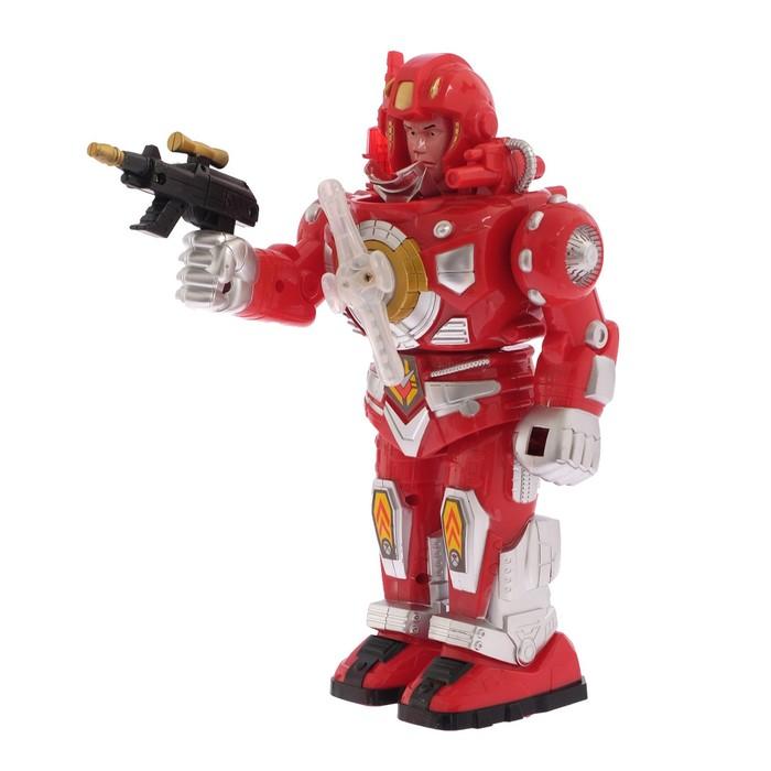 Робот «Воин», работает от батареек, световые и звуковые эффекты, в пакете, МИКС