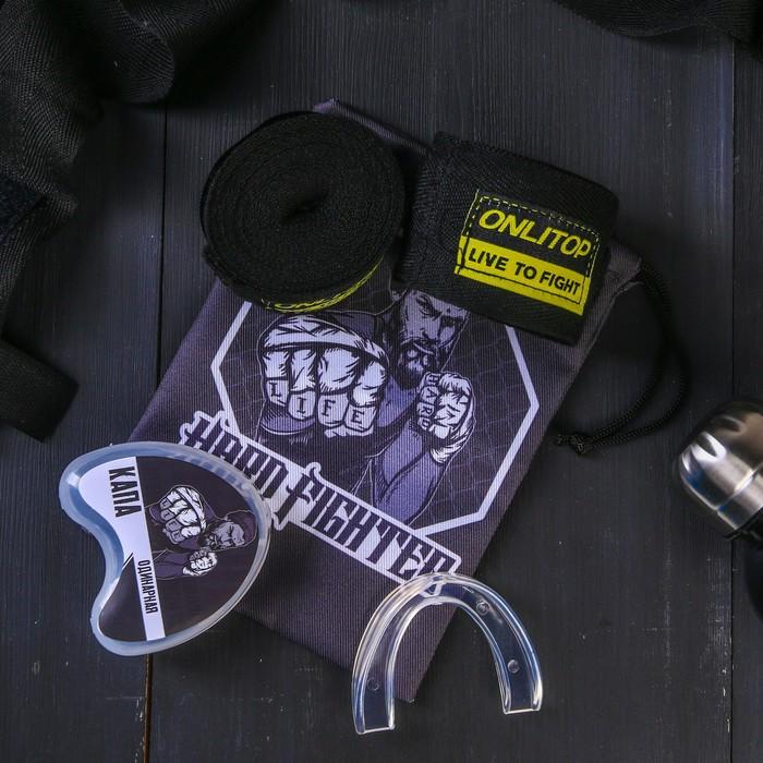 Набор для бокса «Боец»: капа, бинты для бокса 2 шт. × 4 м
