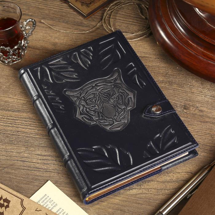 """Ежедневник """"Tiger"""" 21,8х16 см, натуральная кожа, недатированный"""