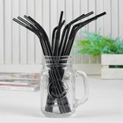 A tube for a cocktail, set of 12 PCs, color black