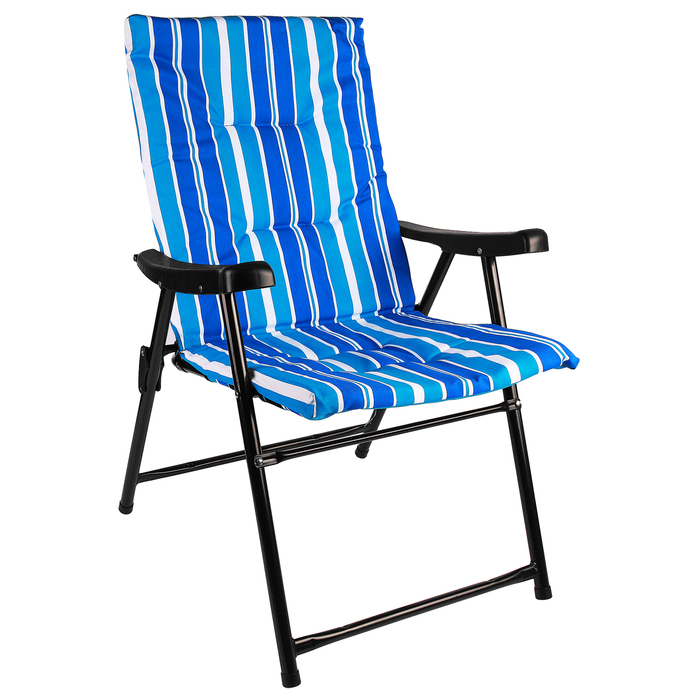УЦЕНКА Кресло туристическое с подлокотниками, 54 х 60 х 91 см, до 100 кг, цвет синий