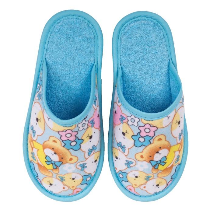 Туфли комнатные детские арт. BTK70801-97-43 (голубой) (р. 31)