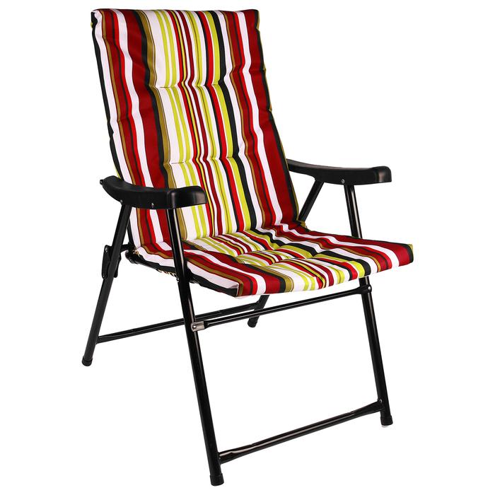 УЦЕНКА Кресло туристическое с подлокотниками, 54 х 60 х 91 см, до 100 кг, цвет красный