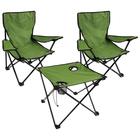 Набор мебели туристический «Два туриста»: стол 45х45х40 см, 2 кресла 35х35х58 см, цвет зелёный