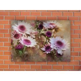 Картина на экокоже 'Цветы акварель' 42*60 см Ош