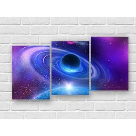 Модульная картина на экокоже 'Вселенная' 3шт.-35х50 см, 109*75 см Ош