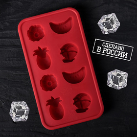 """Форма для льда 19,7x10,9 см """"Тропики"""", h=2,4 см, цвет МИКС"""