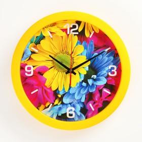 """Часы настенные, серия: Цветы, """"Краски природы"""", плавный ход, d=28 см"""