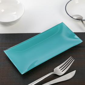 Dish is smooth 19 × 9 cm, color turquoise