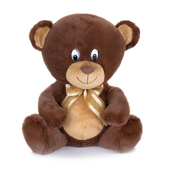Мягкая музыкальная игрушка «Мишка с бантиком», цвет коричневый, 20 см