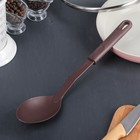 """Ложка гарнирная 29х6,5 см """"Шоколад"""", цвет коричневый"""