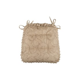 Подушка на стул Curls, размер 42 × 42 см, с рюшами