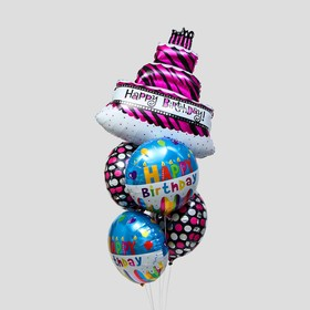 "A bouquet of balloons ""happy birthday"" foil, set of 5 PCs"