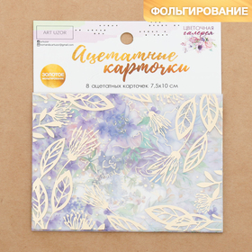 """A set of acetate cards for scrapbooking """"Flower gallery"""", 10 × 11 cm"""