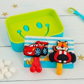 """Набор """"Гонщик"""", держатель для зубной щётки, крючок, мыльница, детский"""