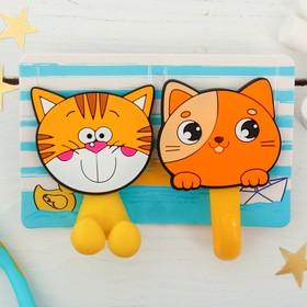 """Набор """"Котята"""", держатель для зубной щётки, крючок, мыльница, детский - фото 4650509"""