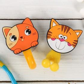 """Набор """"Котята"""", держатель для зубной щётки, крючок, мыльница, детский - фото 4650511"""