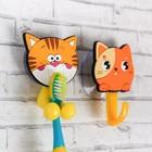 """Набор """"Котята"""", держатель для зубной щётки, крючок, мыльница, детский - фото 4650512"""