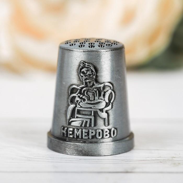 Напёрсток сувенирный «Кемерово», чернёное серебро - фото 690939