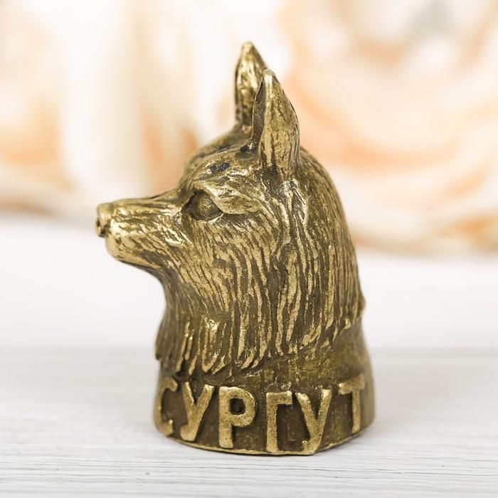 Напёрсток сувенирный «Сургут», латунь - фото 691042