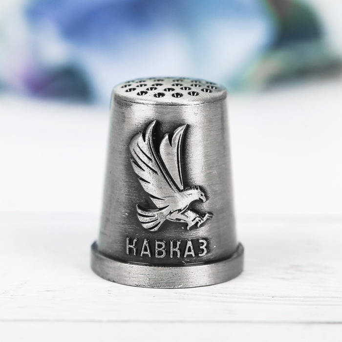 Напёрсток сувенирный «Кавказ», чернёное серебро - фото 690999