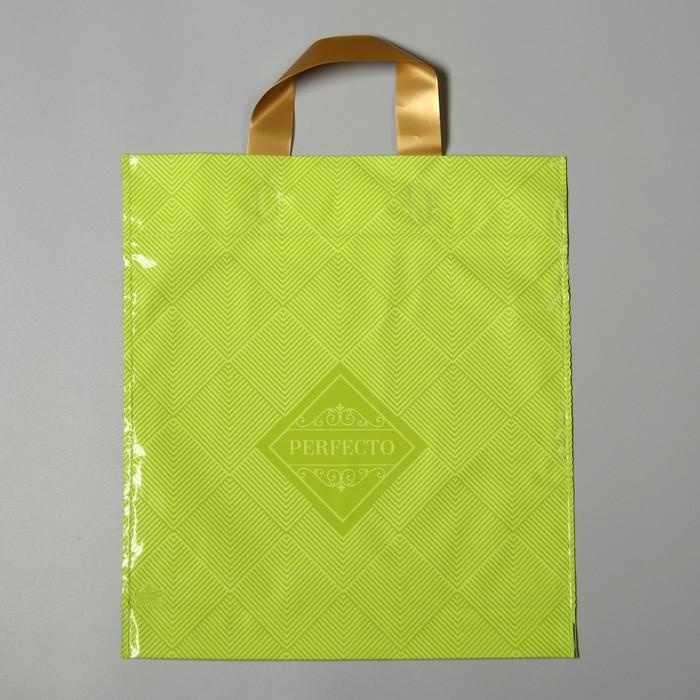 """Пакет """"Перфекто Лайм"""", полиэтиленовый с петлевой ручкой, 31 х 35 см, 95 мкм - фото 308292104"""