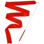 Gymnastic ribbon 4 m with a stick, color red