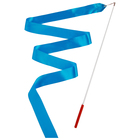 Gymnastic ribbon 6 m with stick, color blue