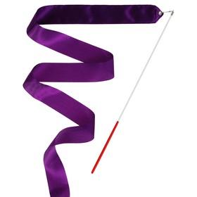 Лента гимнастическая с палочкой, 6 м, цвет фиолетовый