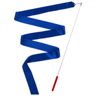 Gymnastic ribbon 2 m stick, color blue