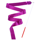 Лента гимнастическая 4 м с палочкой, цвет фиолетовый